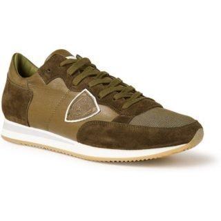 Philippe Model Tropez sneaker van kalfsleer en suède