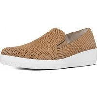 FitFlop Sneaker superskate™ perforated suede soft brown bruin