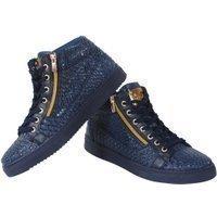 Tamboga Hoge heren sneaker leatherlook blauw