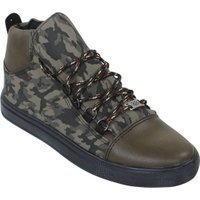 Manzotti Hoge heren sneakers camouflage army