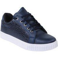 Manzotti Lage heren sneakers imitatie leer slangen print blauw