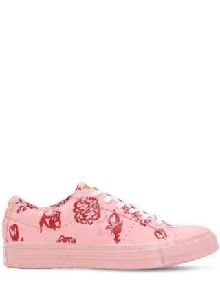 Shrimps One Star Suede Sneakers (roze)