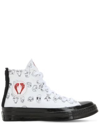Chuck Taylor X Shrimps Hi Top Sneakers (wit/zwart)