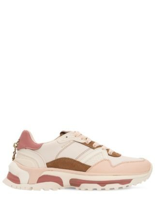 30mm C143 Leather & Suede Sneakers (wit/roze)