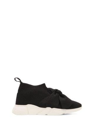 Knitted Slip-on Sneakers (zwart)