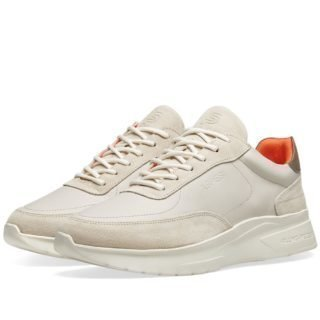 Aspesi x Filling Pieces Leather Running Sneaker (Neutrals)