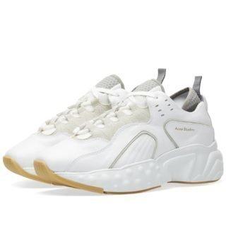 Acne Studios Rockaway Leather Oversize Sneaker (White)