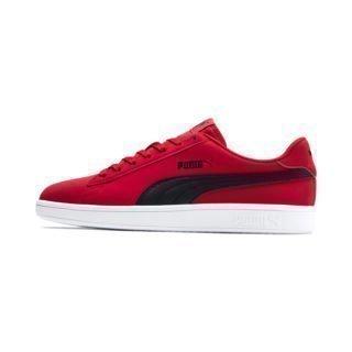 PUMA PUMA Smash v2 Buck Sneakers (Zwart/Rood/Wit)