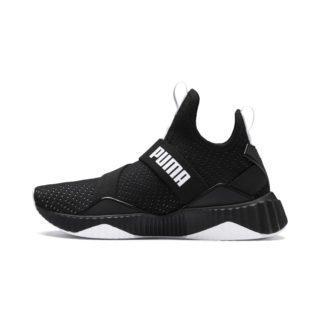 PUMA Defy Mid Core Sneakers (Wit/Zwart)