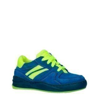 JOCHIE&FREAKS 194063790 leren sneakers blauw/geel (blauw)