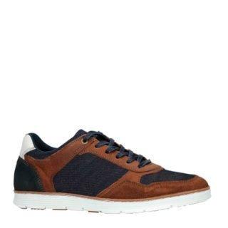 Sacha leren sneakers bruin/blauw (bruin)