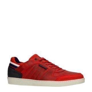 Sacha leren sneakers rood (rood)