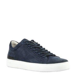 Blackstone nubuck sneakers donkerblauw (blauw)