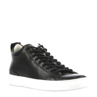 Blackstone leren sneakers zwart (zwart)