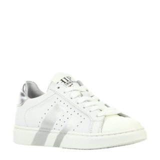 Hip H1784 leren sneakers wit/zilver (wit)