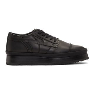 ALMOSTBLACK Black Leather Sneakers