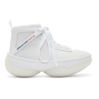 Alexander Wang White A1 High-Top Sneakers