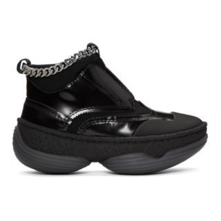 Alexander Wang Black A1 Slip-On High-Top Sneakers