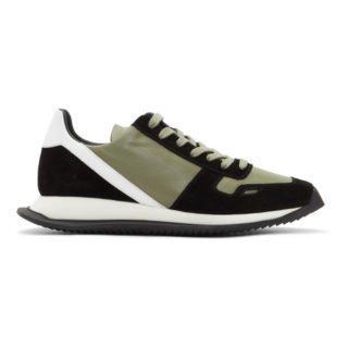 Rick Owens Black and Grey New Vintage Sneakers