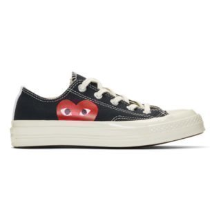 Comme des Garcons Play Black Converse Edition Half Heart Chuck 70 Sneakers