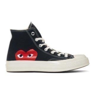 Comme des Garcons Play Black Converse Edition Half Heart Chuck 70 High Sneakers