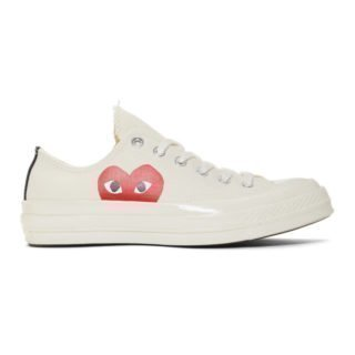 Comme des Garcons Play Off-White Converse Edition Half Heart Chuck 70 Sneakers