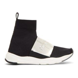 Balmain Black Mesh Cameron Sneakers