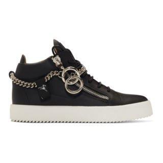 Giuseppe Zanotti Black Chain May London High-Top Sneakers