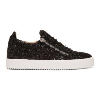 Giuseppe Zanotti Black Glitter May London Frankie Sneakers