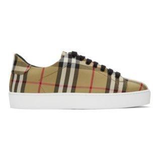 Burberry Beige Vintage Check Westford Sneakers