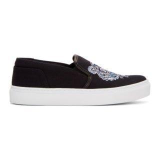 Kenzo Black Tiger K-Skate Slip-On Sneakers