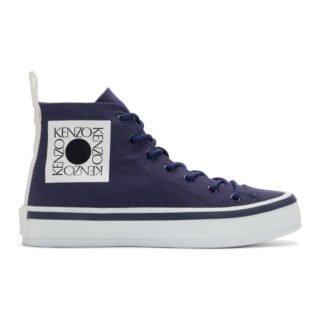 Kenzo Blue Square Logo K-Street Sneakers