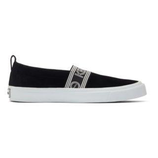 Kenzo Black Suede Kapri Slip-On Sneakers