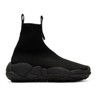 Versus Black Logo Sock Sneakers