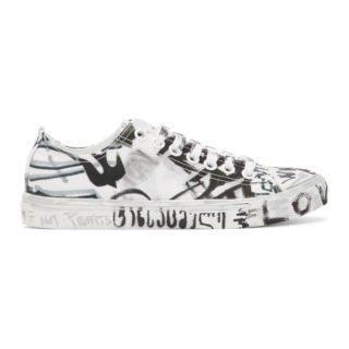 Vetements White Georgian Graffiti Sneakers