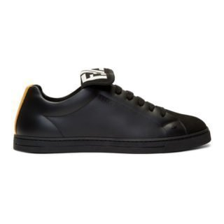Fendi Black and Yellow Forever Fendi Sneakers