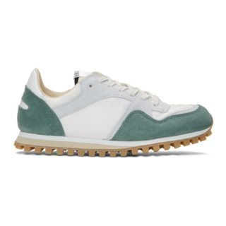 Spalwart Green and White Marathon Trail Sneakers
