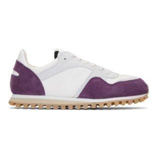 Spalwart Purple and White Marathon Trail Sneakers