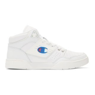 Champion Reverse Weave White 3 on 3 SP High-Top Sneakers