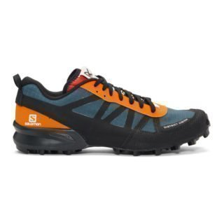 District Vision Blue and Orange Salomon Edition Mountain Racer Sneakers