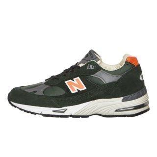 "New Balance M991 TNF Made in UK ""70's Sport Pack"" (groen/oranje)"