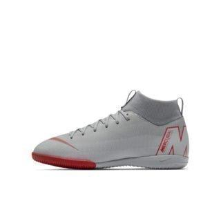 Nike Jr. MercurialX Superfly VI Academy Zaalvoetbalschoen voor kleuters/kids - Grijs Grijs