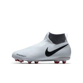 Nike Jr. Phantom Vision Academy Dynamic Fit Voetbalschoen voor kleuters/kids (meerdere ondergronden) - Zilver Zilver