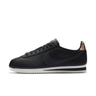 Nike Classic Cortez Leather Metallic Damesschoen - Zwart Zwart