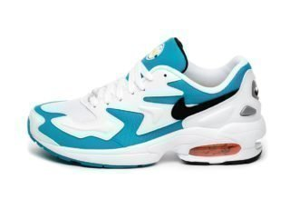 Nike Air Max² Light (White / Black - Blue Lagoon - Laser Orange)