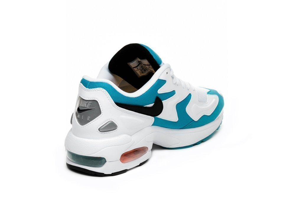 promo code b6fc0 635fa Nike Air Max² Light (White   Black – Blue Lagoon – Laser Orange). Stijlcode    AO1741 100. Nike ...