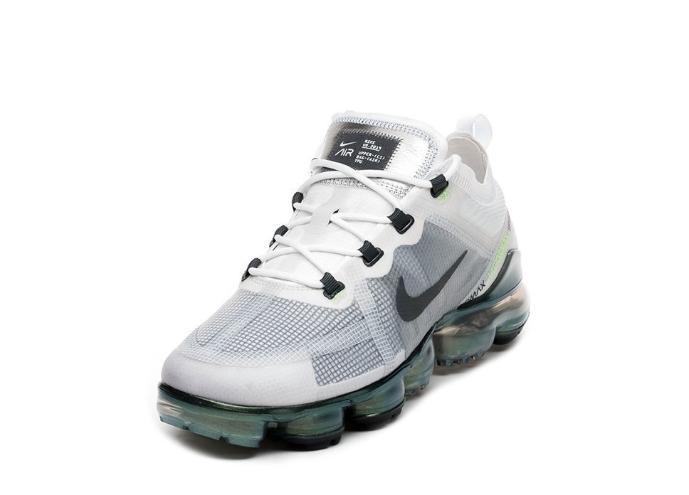 promo code b3de1 94a24 Nike Air Vapormax 2019 Prm White Dark Grey Platinum Tint Lime