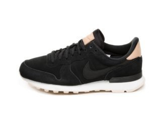 Nike Wmns Internationalist PRM (Black / Black - Summit White - Light C
