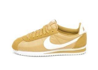 Nike Wmns Classic Cortez Nylon (Club Gold / Sail - White)
