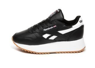 Reebok Classic Leather Double (Black / White / Primal Red)